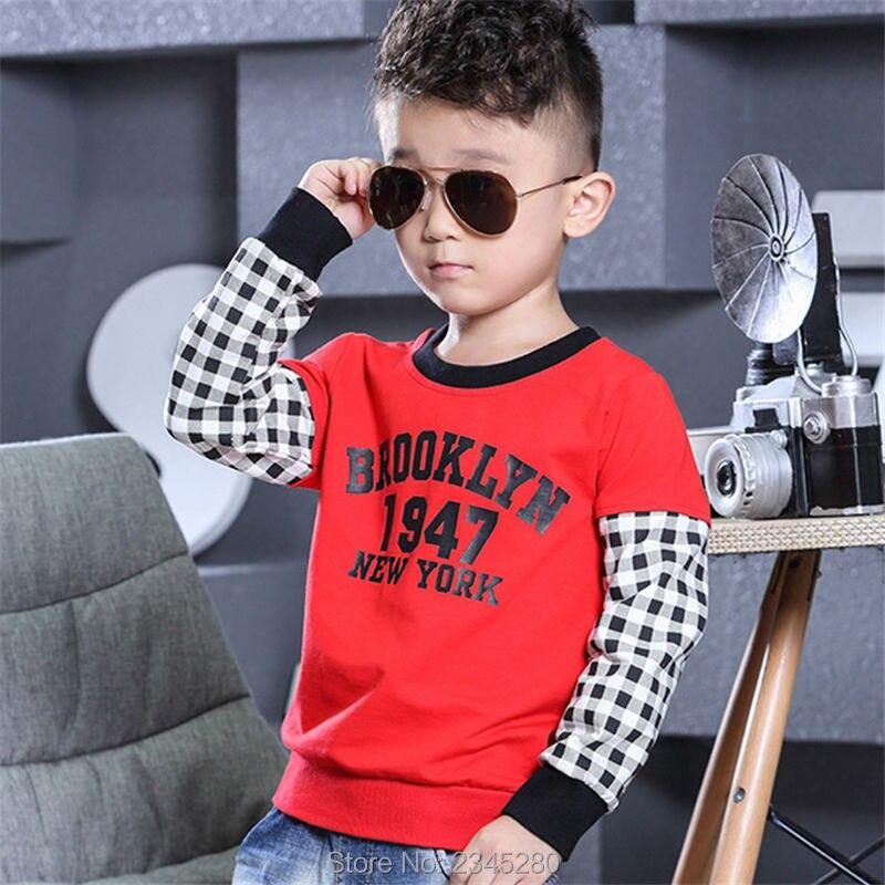 T-Shirt For Boy Sweater Ruffle Raglan Shirts Child Bobo Choses  The Boys Clothes Kids Tees Children Tops Teenage Boys Clothing 01