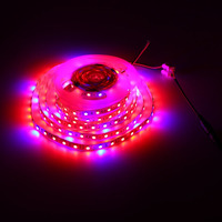 Waterproof LED Strip Grow Lights 5050 SMD Red Blue Growing Lamp for Aquarium Greenhouse Hydroponic Plant Garden Flowers 5M
