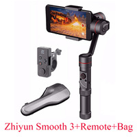 Zhiyun Smooth III 3 Axis Handheld Gimbal Remote For IPhone 7 6 Plus For Samsung S7