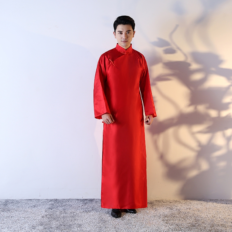 2020 Plus Chinese Men Embroidery Robes Traditional Male Sleepwear Nightwear Kimono Chinese Robe Wholesale