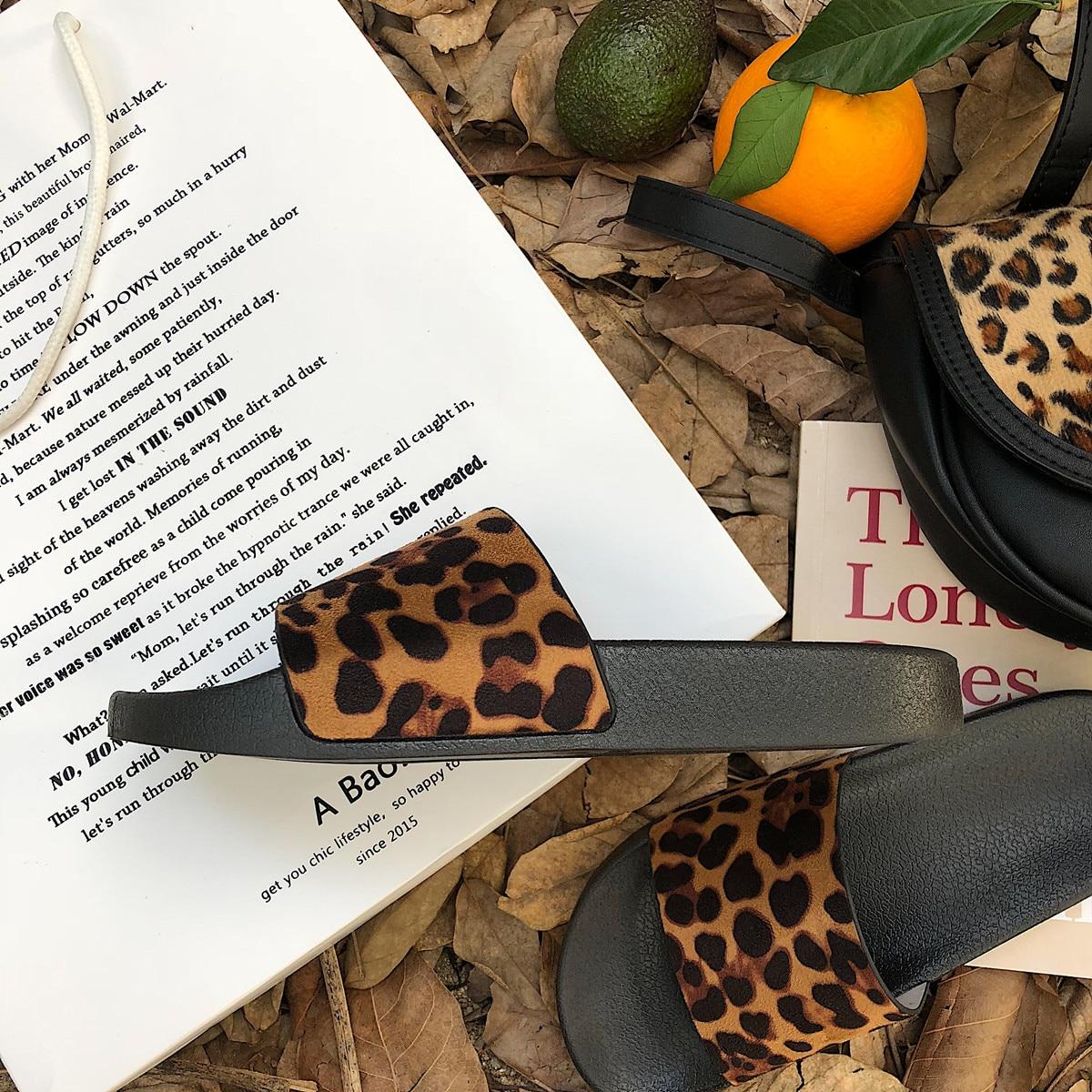 Summer Slippers Women Slides Leopard Indoor & Outdoor Slippers Platform Sandals Shoes Women Slip On Flip Flops Zapatillas Mujer 4