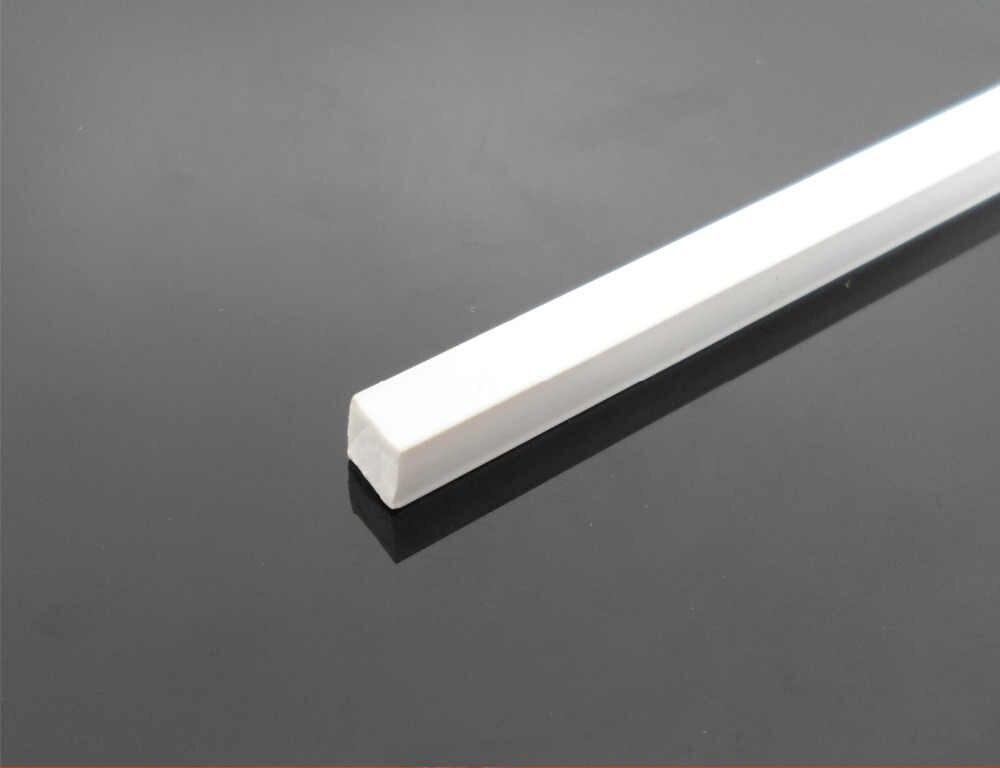 4x4x250mm 3x3 10pcs White ABS Plastic L Shape Right Angle Bars DIY Model 2X2