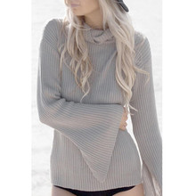 Womens Casual Solid Long Sleeve Jumper Tops Blouse Female Sexy Female Clothing Women Slim Sexy pullover Mode Femme #3