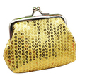 Women's Sequins Coin Purse Buckle Mini Wallet