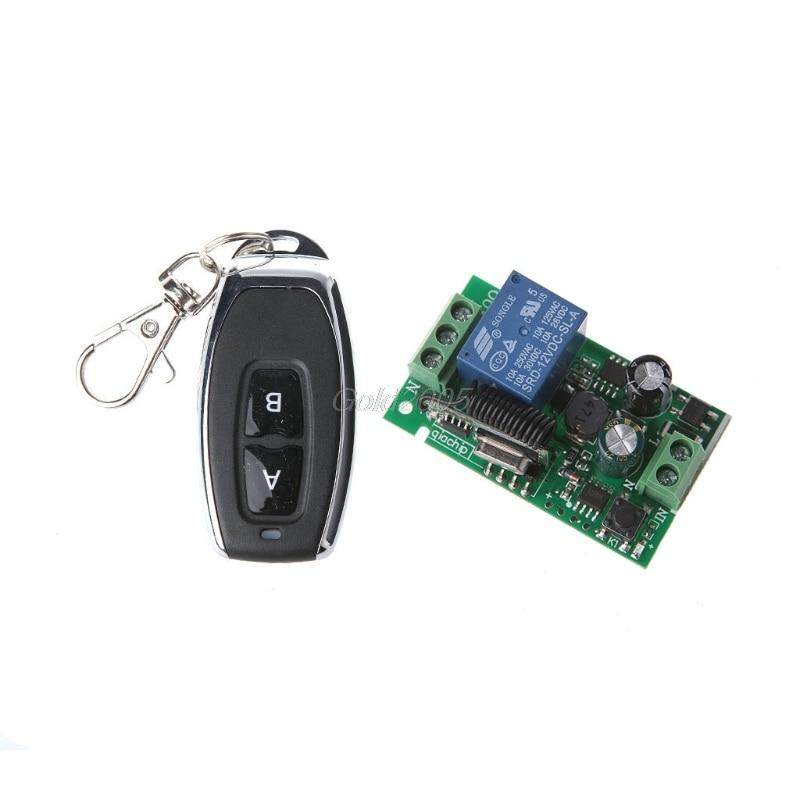 1-Channel AC 220V Wireless RF Remote Control Receiver Relay Switch 433MHz FMUS