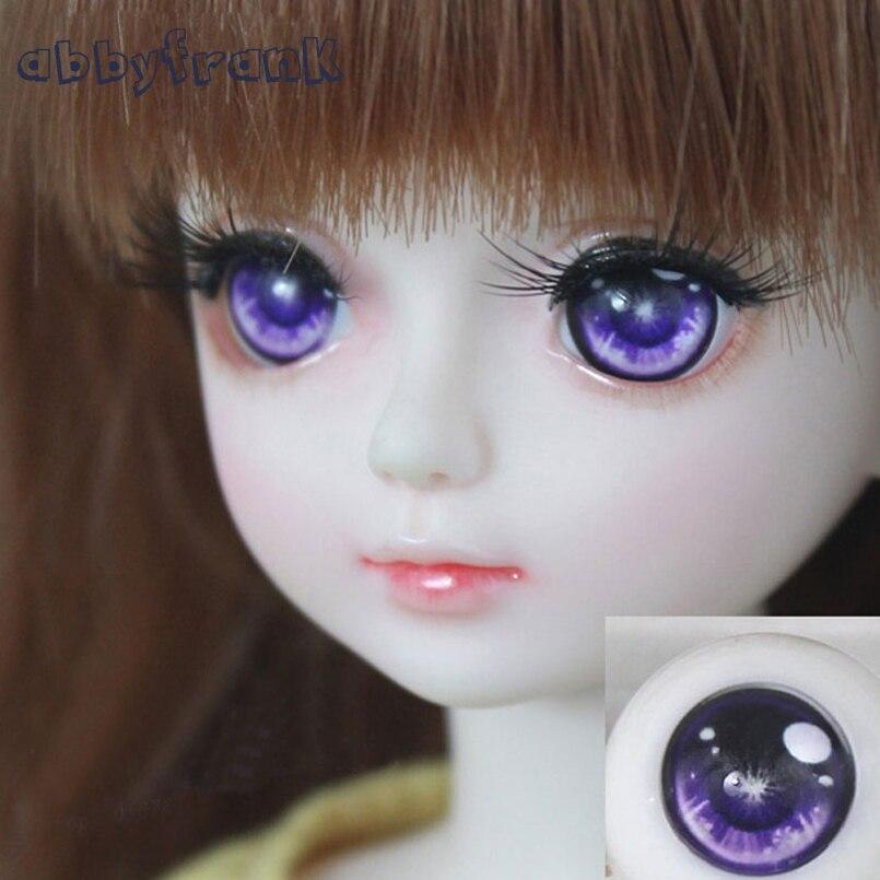 Abbyfrank Safety Eyes BJD Doll Acrylic Eyeball Eyes Half Round Eyeball For Doll Accessories 1 Pair 1/3 1/4 1/6 14mm 16mm 18mm doll eyelashes eye line strips for 1 3 1 4 1 6 bjd dolls or reborn doll accessory doll big pretty eye make up accessories