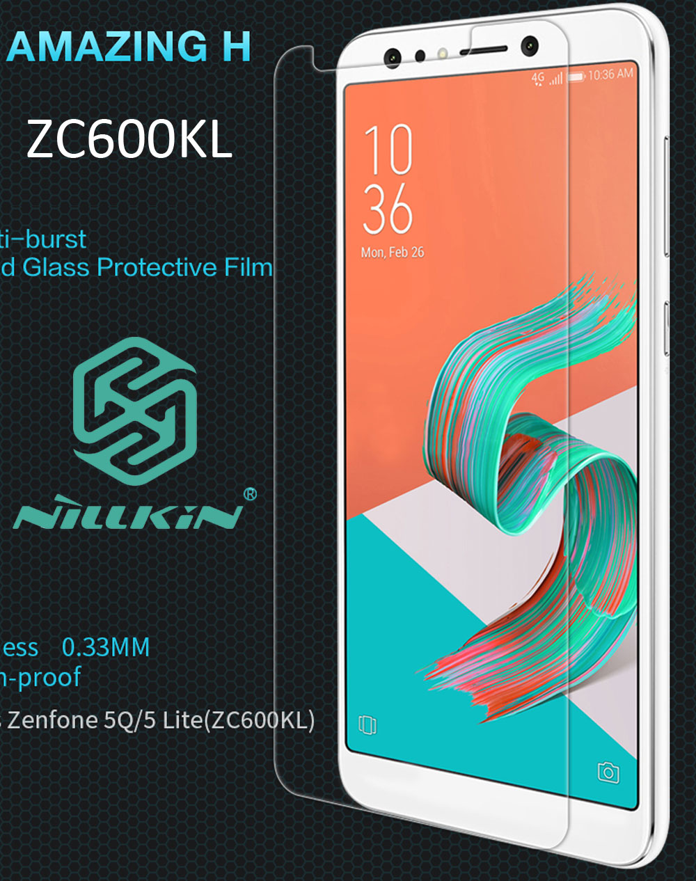 Nillkin Amazing H Tempered Glass For Asus Zenfone 5 Lite ZC600KL oleophobic Protective