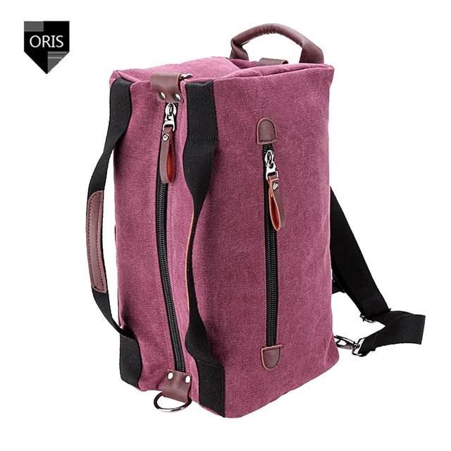 Дизайнер Oris высокой плотности холст дорожная сумка мода женщин свободного покроя сумку багаж женщины рюкзаки унисекс рюкзак сумка