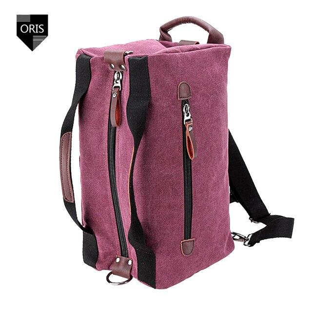 Designer Oris High Density Canvas Travel Bag Fashion Women s Casual Luggage  bag Female Backpacks Unisex Rucksack Shoulder bag 5b6ee77dc1
