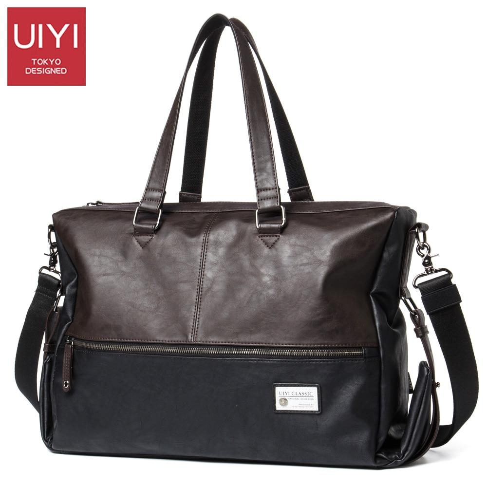 Uiyi Pu Mens Shoulder Messenger Handbags 13 Inch Laptop Bag Male