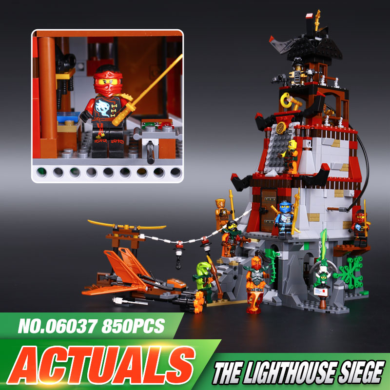 Lepin 06037 Compatible Legeo Ninjagoes Minifigures The Lighthouse Siege 70594 Building Bricks Ninja Figure Toys For