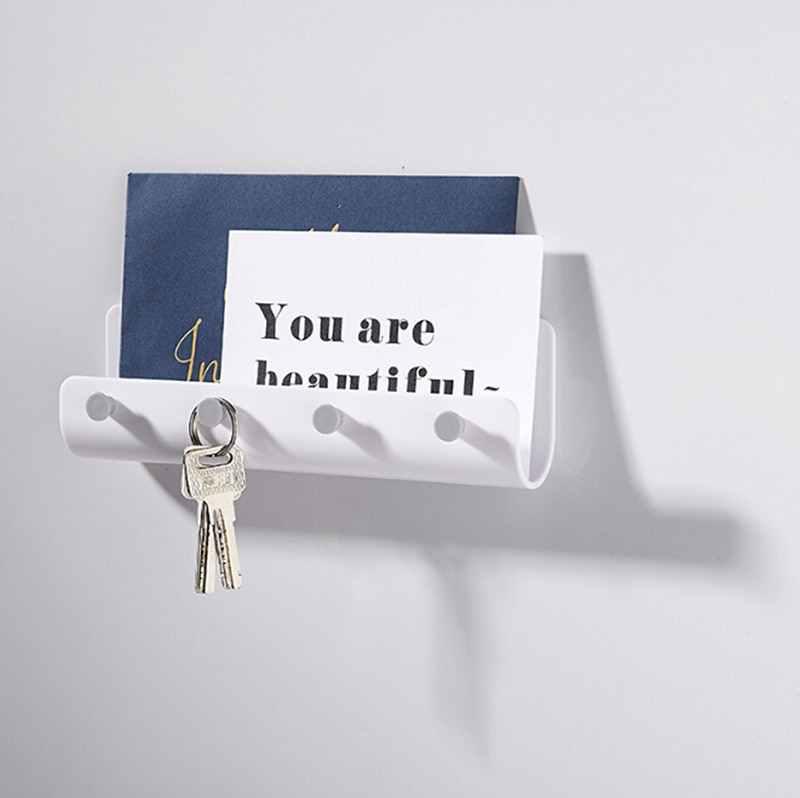 جدار هوك الإبداعية المطبخ الحمام شماعات هوك منظم منزلي اكسسوارات للمنزل الحديث لاصق السنانير مفتاح حامل 1 قطعة