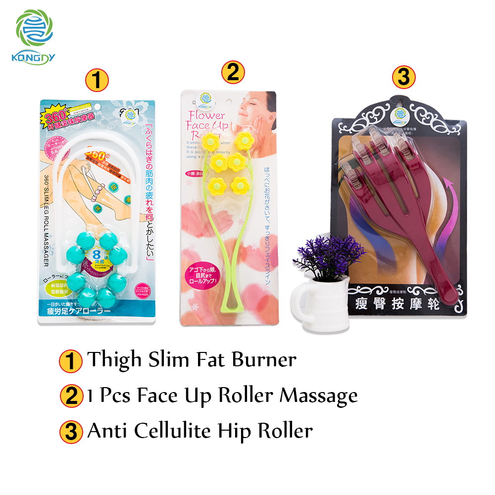 Buy 3 Get 1 KONGDY Thigh Slim Massager with Face Up Roller adds Anti Cellulite Hip Roller Gift Head Massage Only Black Friday
