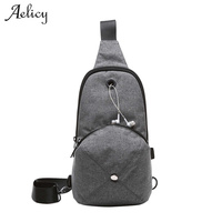 Aelicy 4 Colors Men Function Cool Leisure Chest Bag Men Pack Bolsos Mujer Travel Pack High