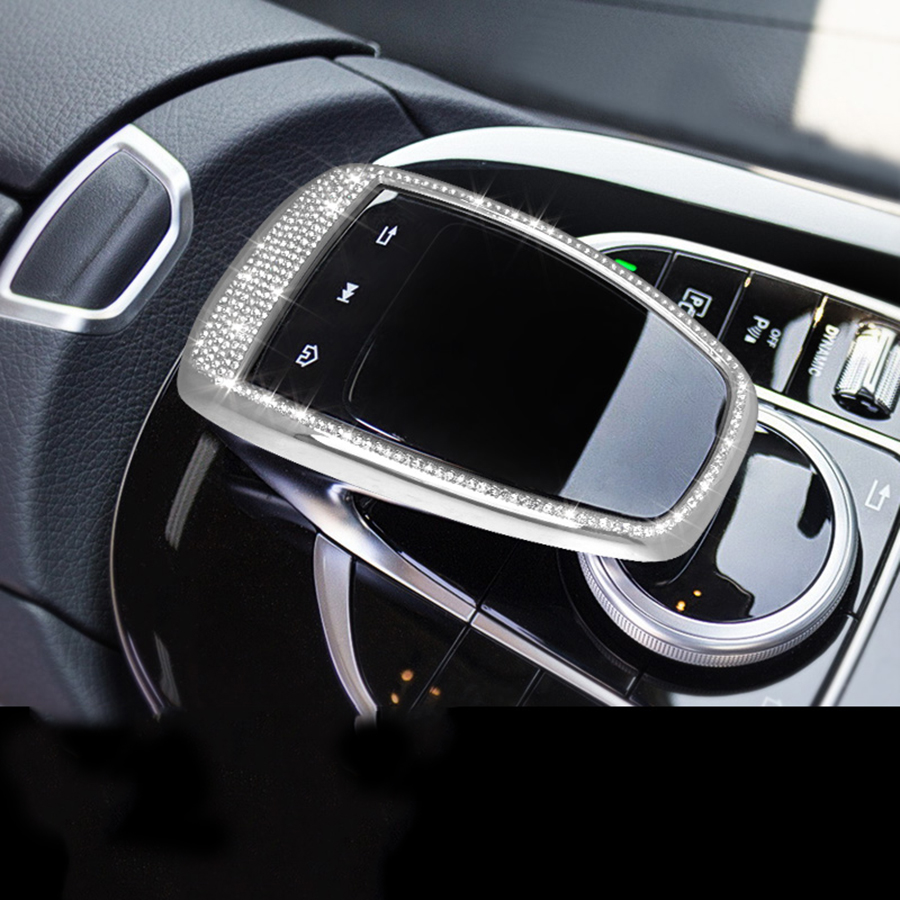 Central control touchpad Trim for Mercedes Benz GLC C E Class W205 W213 2015 2016 2017 Car Accessories chrome 4x door body molding protector plate cover trim for mercedes x253 glc benz glc200 glc250 glc300 2015 2016