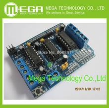 10pcs/LOT L293D Motor Drive Shield dual for arduino Duemilanove, Motor drive expansion board
