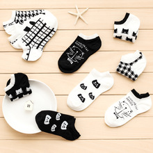 Ms cartoon socks age season thin socks joker shallow mouth ship socks cotton hosiery for head of ship