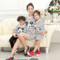 Spring Autumn Family Matching Outfits Stripe Cotton Mickey Dress Sweater Family Look Mother Daughter Dresses Girl Dress Clothes