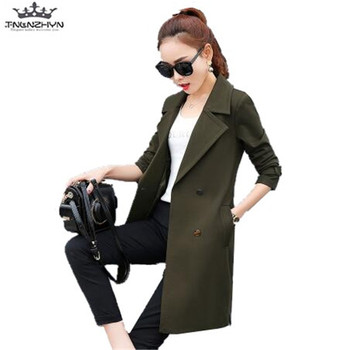 tnlnzhyn 2019 Female Trench Coat Spring Autumn Women Trench Coat Slim Lapels Windbreaker Coat For Women Outerwear Trench Y595