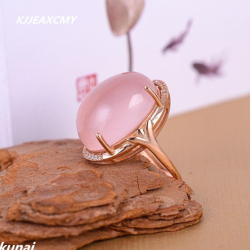 KJJEAXCMY bijoux de couleur bijoux 925 argent incrusté poudre naturelle femelle anneau simple en gros