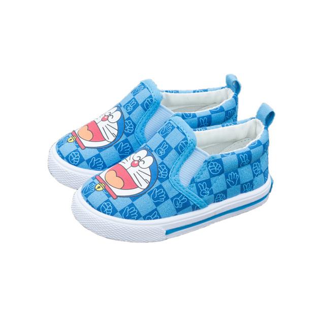 Precioso prewalker de los zapatos causales zapatos de lona del bebé lindo de la historieta de Doraemon imagen para 1-3yrs bebé recién nacido infantil primer caminante zapatos