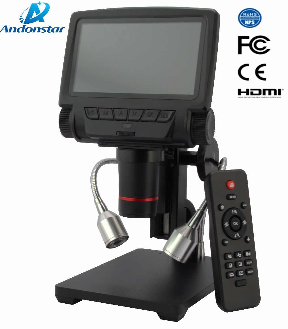 Andonstar New HDMI/USB Microscope Long Object Distance Digital Microscope For Mobile Phone Rapair Soldering Tool