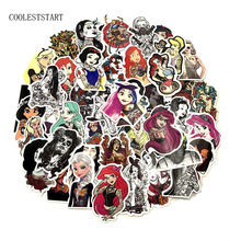 50PCS/Set Tattoo Girl Sticker Pvc Waterproof fashionable Styling Sexy beauty  For Laptop Luggage Guitar Decal Toy