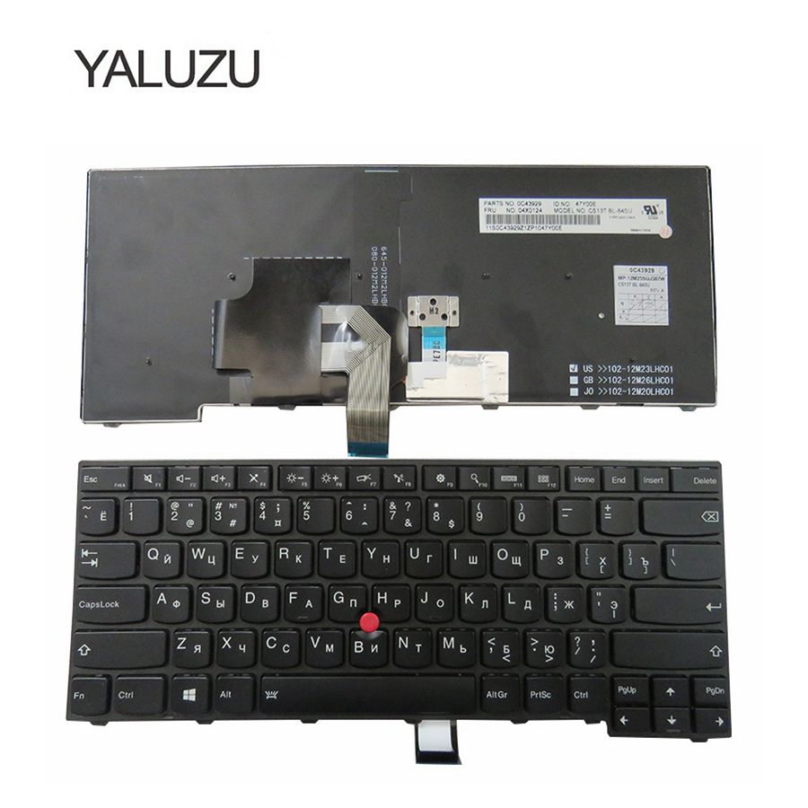 YALUZU New For Lenovo ThinkPad T440S T440P E431 T431S E440 L440 T450 Russian RU Laptop Keyboard With backlight original laptop keyboard for lenovo ibm thinkpad e431 t431s t440s t440p t440 e440 l440 t460 eu standard t440 t440s t450 keyboard