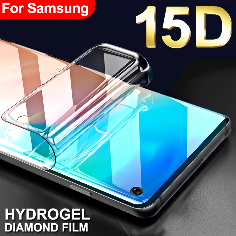 15D Protective Hydrogel Film On For Samsung Galaxy S8 S9 S10 Plus S10e Screen Protector On Galaxy S7 S6 Edge Note 8 9 Not Glass