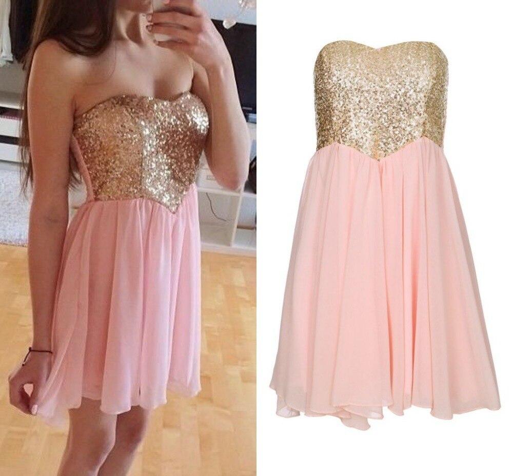 Ziemlich Prom Kleider Rosa Und Gold Galerie - Brautkleider Ideen ...