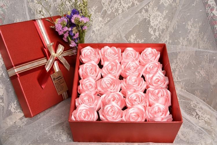varm försäljning Handgjord Rose Silke Satin blomma kronblad - Bröllopstillbehör - Foto 5