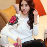 Free Shipping New Fashion ALL MATCH Women Elegant Loose Plus Size Sweater Retali Wholesale 12785