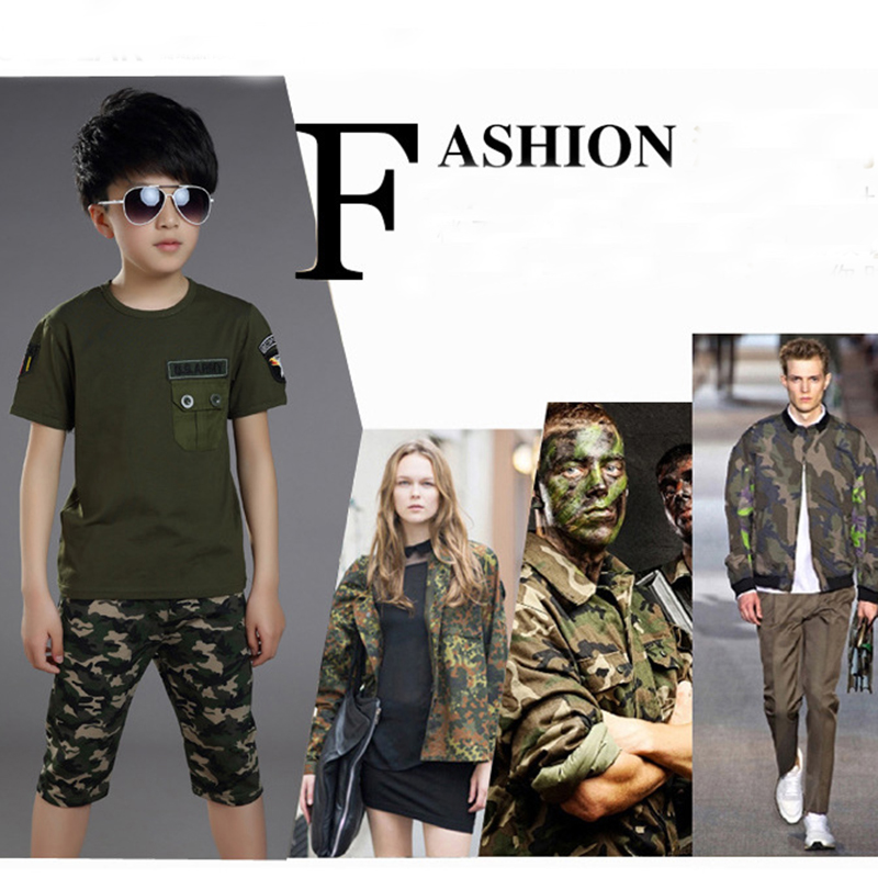 2016 Summer Children Military Camouflage Clothing Boy T-shirt + shorts 2pcs Set Girl Cotton Army Green Sports Print Pant Suit пенка roland roland ro031lwgmb71