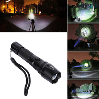 Super Bright 3000LM T6 LED Flashlight Hunting Tactical Light Rechargeable Torch Lantern For Camping With AC