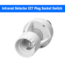 360 Degrees PIR Induction Motion Sensor IR Human Infrared Detector E27 Plug Socket Switch Base Led Bulb Light Sensor Lamp Holder(China)