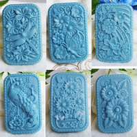 New Arrivals Animal Dragonfly shaped soap molds cake decoration molds butterfly rectangle silicone rubber molds