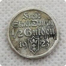 Poland Danzig Free City Серебряная монета 1/2 гульден 1923 копия памятных монет-копии монет медаль коллекционные монеты