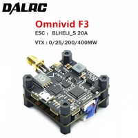 DALRC Omnivid F3 Flight Controller 4 IN 1 BLHELI_S 20A DSHOT600 ESC 5.8G 25/200/400mW VTX for FPV Freestyle RC Drone Omnibus F3