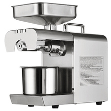 VOSOCO Oil presser peanut maker rapeseed olive Pistachio pecan small almond Stainless stee household oil mill 110V/220V 700W
