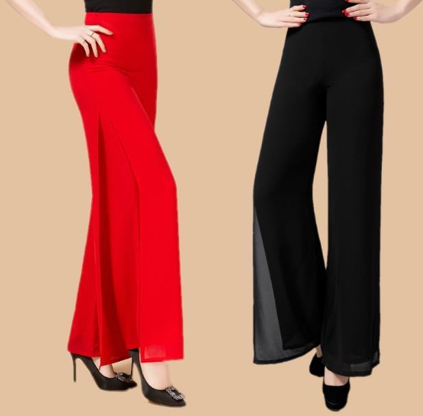 Largos Danza Ocasional Verano Cruz Tamaño 2018 Pantalones Pierna Gasa Mujeres Ancha 5xl Más Doble Cubierta Rq124 Ol x4qXCqU0