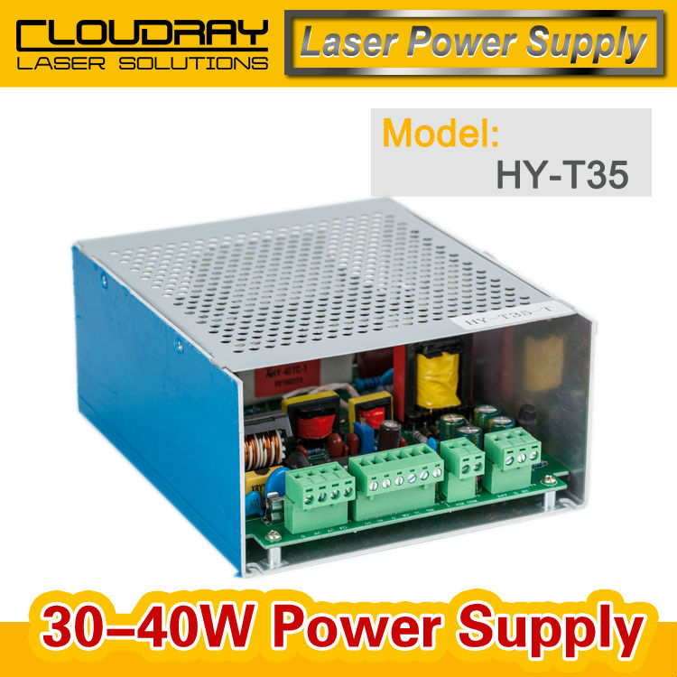 30-40W CO2 Laser Power Supply for CO2 Laser Engraving Cutting Machine HY-T35 2pcs lot 60w laser power supply psu high voltage flyback hongyuan hy t60 co2 engraving cutting machine ignition coil