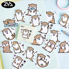 45pcs/lot kawaii otter Paper sticker DIY decoration sealed envelope Scrapbooking Sticker Stationery label stickers