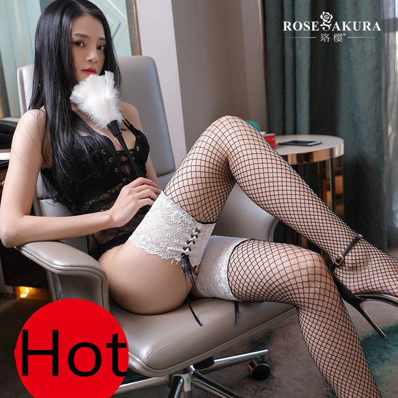 Sexy New Fishnet Mesh Stockings for Women Thigh High Lace Top Detail Over Knee See Through