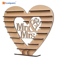 LumiParty Wooden Mr & Mrs Heart Chocolate Display Tree Stand Wedding Centrepiece Decoration 35