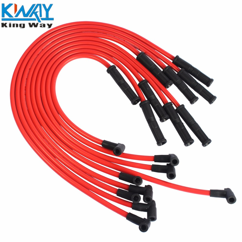 Plug Wires For 350 Chevy Wiring Harness Diagram Images Download Hei Connector Free Picture Schematic Shipping King Way New Spark Set 90 To Straight Rhaliexpress