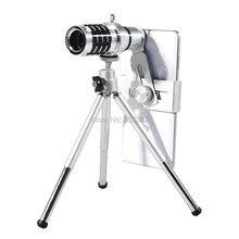 Photography Universal 12x Camera Telescope Lens+Tripod For Samsung A3 A5 J1 C5 Neo S7 Edge Mini NOTE 7/3 C5/For Meizu SmartPhone