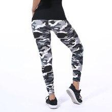 2020 kamuflaż drukowanie elastyczność legginsy zielony/niebieski/szary kamuflaż spodnie Fitness Legins legginsy na co dzień dla kobiet