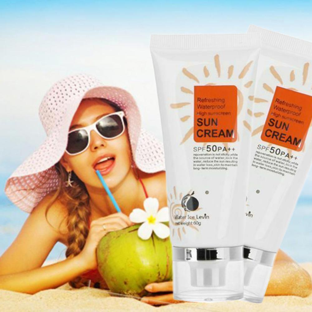 SPF 50 PA++ Face Sunscreen Cream Whitening Sun Protection Isolation UV Radiation Sunscreen Cream Waterproof Body Sunblock Lotion