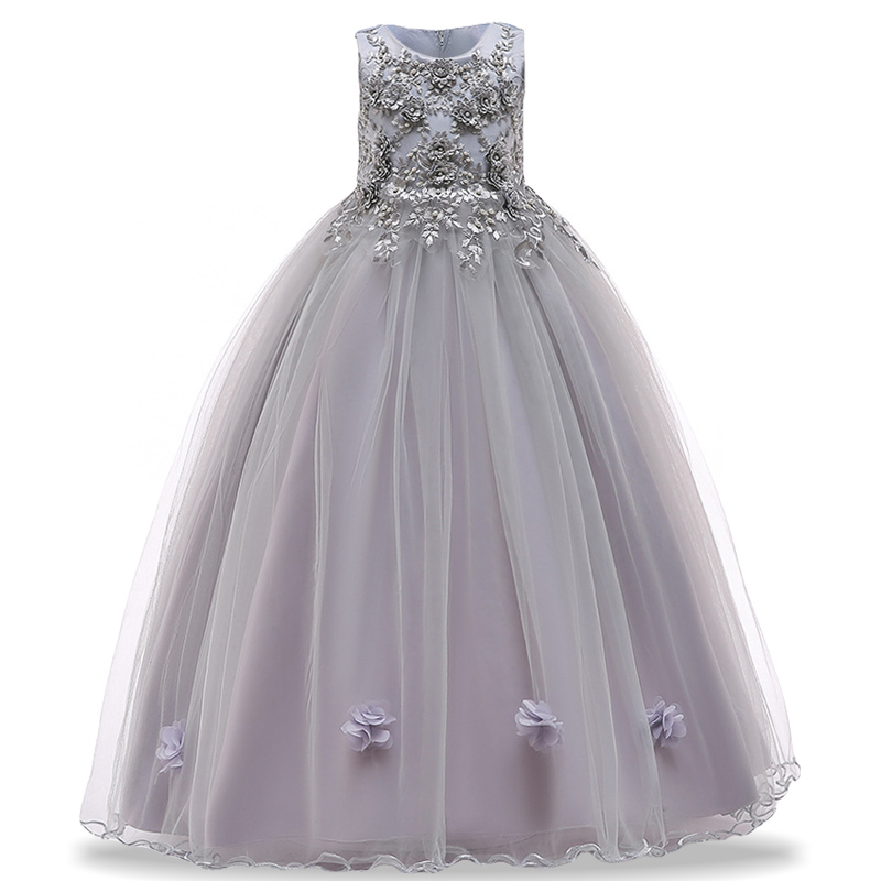 8ae1f87ad105d Girls Evening Party Dresses For Show Kids Princess Dress Bridesmaid Flower  Girls Dresses Children Clothing 4 6 8 10 12 14 Years