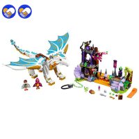 Bela Elves 10550 White Dragon The Elf Series Of Long After The Rescue Cction Blocks With